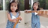น้องอลิน หลับตาพริ้ม ฝึกร้องเพลงชาติไทย