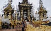 การก่อสร้างพระเมรุมาศ คืบหน้ากว่าร้อยละ 95