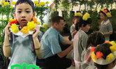 น่ารัก น้องข้าวหอม ลูกแม่ตั๊ก บงกช อธิบายดอกดาวเรืองเป็นภาษาอังกฤษ