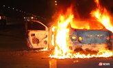 หวิดย่างสด แท็กซี่ชนขอบทางไฟลุก คนขับหนีตายลิ้นเกือบขาด