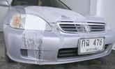 ล้างแค้นไม่จบสิ้น เร่งล่าตัวมือดีสาดน้ำกรดใส่หน้ารถ