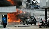 รถน้ำมันระเบิด-ไฟไหม้ นิคมอมตะนคร ชลบุรี มีผู้ได้รับบาดเจ็บ