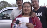 สาวซื้อเลขรถคนตาย นำโชคถูกรางวัลที่ 1 ตั้งใจบริจาคให้โรงพยาบาล