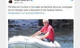 นายกฯ ออสเตรเลียโดนสั่งปรับ 6 พันบาท ฐานไม่สวมชูชีพแล่นเรือ