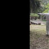 คลิปน่ารัก กู้ภัยโคราชพาผู้ป่วยผู้ถูกกักตัว เต้นออกกำลังกายสู้โควิด