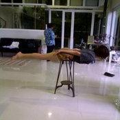 มาร์กี้ ทำ planking