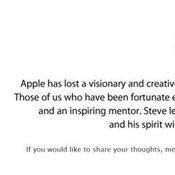 คำไว้อาลัย สตีฟ จ๊อบส์ จากเพื่อนร่วมงานที่ แอปเปิล