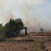 โคราช-บัวใหญ่โกลาหล..ชาวบ้านทั้งหมู่บ้านเร่งช่วยกันดับไฟที่มีคนลักลอบเผาตอซังข้าวเจอลมแรงโหมกระพือลามเข้าหมู่บ้าน