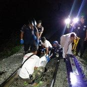 1-รถไฟทับหนุ่มบุรีรัมย์กลางเมืองโคราช ร่างขาดดับสยอง