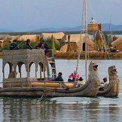 Uros reed Island, Titicaca