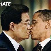ผู้นำจีน จุมพิตกับ ผู้นำสหรัฐฯ