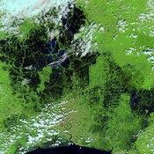 ภาพถ่ายดาวเทียม น้ำท่วมกรุงเทพฯ 2554