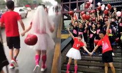 เหนื่อยแต่ก็มีความสุข บ่าวสาวชาวจีนจับมือกันวิ่ง 13 กิโลเมตร เข้าพิธีแต่งงาน