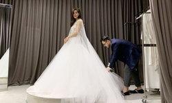 """เปิดภาพ """"ก้อย รัชวิน"""" ลองชุดแต่งงาน สวยงามอลังการเป็นที่สุด"""