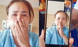 """ญาติเผยคลิป """"น้าเอ๋"""" ภรรยาคู่ชีวิต """"น้าค่อม ชวนชื่น"""" วิดีโอคอลร่วมพิธีทำบุญ เศร้าสุดจะกลั้นน้ำตา"""