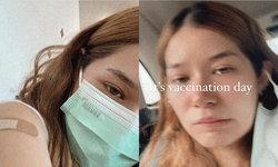 """""""วี วิโอเลต"""" รีวิวการฉีดวัคซีนโควิด กลับบ้านมาไข้ขึ้น หนาวสั่น เจ็บไปหมดทั้งตัว"""