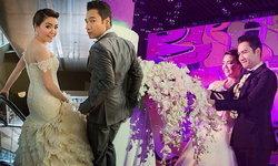 กอล์ฟ เบญจพล ควง ปุ้ย กชพรรณ ฉลองแต่งงานหวานชื่น