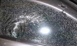 ยิงถล่มนายช่าง อบจ.รถพรุนทั้งคัน วิ่งหนีไปสิ้นใจกลางถนน