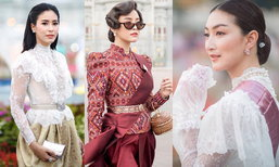 ประมวลภาพคนดัง แต่งชุดไทยจัดเต็ม งานอุ่นไอรักคลายความหนาว