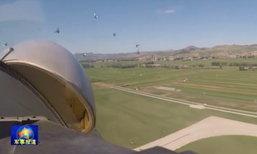 ระทึก! เครื่องบิน J-15 บินชนฝูงนกไฟลุกพรึบ หลังขึ้นบินไม่ถึงนาที
