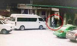 หนุ่มแท็กซี่เลือดร้อน ชกต่อย - สาดน้ำมันใส่อดีตภรรยา ขู่จุดไฟเผากลางปั๊ม