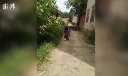 ชายไปทำงานครึ่งปีไม่มีเงินติดตัวกลับบ้าน เมียเดือดสั่งคุกเข่าหน้าหมู่บ้าน