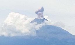 สะพรึง! ภูเขาไฟปะทุช่วงเกิดแผ่นดินไหวที่เม็กซิโก