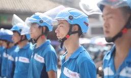 หนุ่มจีนสุดขยัน ส่งของวันละเป็นร้อยเจ้า รับทรัพย์ 8 หมื่นทุกเดือน