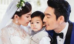 ภาพเต็ม ฉลองแต่งงาน โอ๊ต - จีน่า อุ้มลูกเป็นพยานรัก