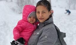น่ารักจัง หิมะครั้งแรกของ เจ้าหนูทาเรีย ลูกสาวน้ำฝน กุลณัฐ