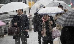 โตเกียวเตือนภัยหิมะตกหนักครั้งแรกในรอบ 4 ปี