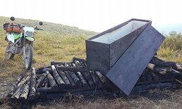 นักท่องเที่ยวเผ่นกระเจิง เจอโลงศพบนภูลมโล ที่แท้กองถ่ายละครทิ้งไว้