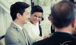 โอปอล์ โพสต์ฮายิ้มกว้างเมื่อ หมอโอ๊ค ยอมจรดปากกาบนทะเบียนสมรสเมื่อ 4 ปีก่อน
