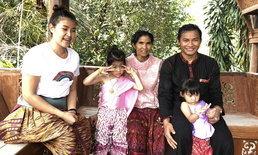 จา พนม ควง บุ้งกี๋ พร้อมครอบครัว แต่งชุดออเจ้า กลับบ้านที่สุรินทร์