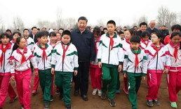 """""""สี จิ้นผิง"""" จับพลั่วปลูกต้นไม้ ย้ำพัฒนาสีเขียวฯ เพื่อจีนที่สวยงาม"""