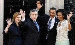 ผู้นำสหรัฐพบปะผู้นำอังกฤษก่อนเริ่มประชุมจี 20