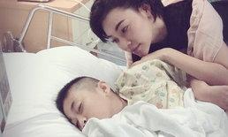 """ขอแม่เจ็บแทน """"เอมมี่"""" ใจสลาย ลูกชายถูกแตนต่อยหัว นอนหมดสติต้องให้ออกซิเจน"""