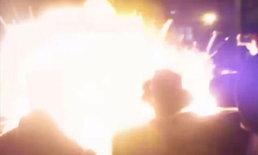 ระเบิดลูกไฟยักษ์ลุกโชน กลางงานเทศกาลที่ลอนดอน บาดเจ็บอื้อ