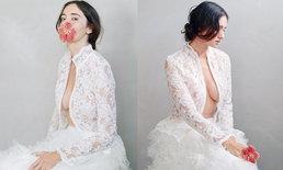 """สุดยอด """"ซาร่า มาลากุล"""" สวมชุดขาวโรแมนติก แอบแซ่บโชว์อึ๋มครึ่งเต้า"""