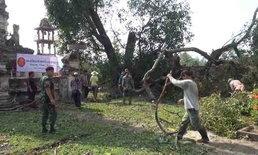 พายุถล่มซัดหลังคาบ้าน  ต้นไม้อายุ 100 ปี อ่วมกว่า 200 ครัวเรือน