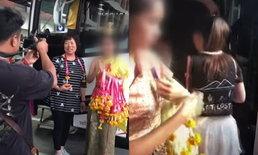 """ไล่ออกแล้ว! """"2 สาวชุดไทย"""" ฝืนยิ้ม รับนักท่องเที่ยวจีน"""