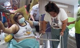 """""""น้องเมย์"""" สาวอ้วนหนัก 150 กก. ที่เคยทุบผนังบ้านพาส่งหมอ เสียชีวิตกะทันหัน"""