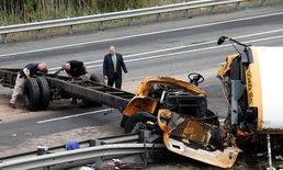รถโรงเรียนชนกับรถบรรทุกที่นิวเจอร์ซีย์ เสียชีวิต 2 ราย เจ็บอีกมาก