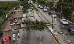 รวมภาพความเสียหายพายุถล่มนนทบุรี  อุตุเตือนพรุ่งนี้หลายพื้นที่รับมือฝนฟ้าคะนอง