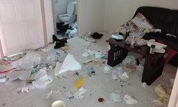 คู่รักชาวจีนเช่าห้อง 2 วัน เจ้าของเปิดห้องดูถึงกับผงะ กองขยะเหมือนอยู่เป็นเดือน