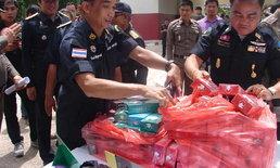 ดิ้นไม่หลุด! สรรพสามิต รวบแก๊งนำเข้าบุหรี่นอกซุกยาบ้าร่วมหมื่นเม็ดลักลอบเข้าไทย