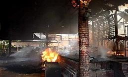 เหลือเพียงแต่ซาก เพลิงไหม้เวทีการแสดงตลาดน้ำอโยธยา