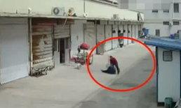 สลด ชายจีนผลักพ่อหัวฟาดฟื้นตาย ปมปัญหาแบ่งเงินชดเชยย้ายบ้าน