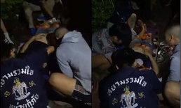 สนั่นงานบุญ! พลุระเบิดขณะชาวบ้านกำลังเวียนเทียน สาหัส 2 ราย แขนขาขาด