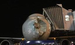 พายุลูกเห็บซัดต้องบินลงจอดฉุกเฉิน ต้องช็อกกับสภาพเครื่องบินทั้งลำ
